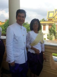 en compagnie de Son Altesse Royale la Princesse Samdech Reach Botrei Preah Ream Norodom Buppha Devi